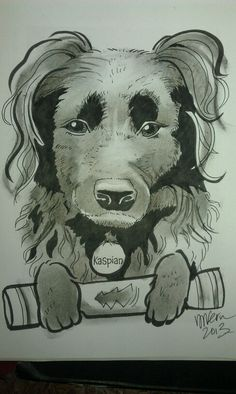 A caricature of a dog