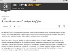 This day in history Franklin Roosevelt, February 5, How To Plan, History, Day, Historia