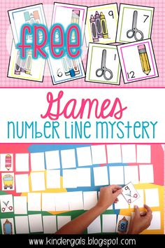 FREE Number Line Mystery Games! From The KinderGals Blog and great for a kindergarten class.