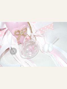 Κέρασμα γέννας αυγό-μπάλα με πιπίλα ροζ