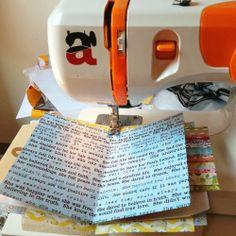 Encuadernar con máquina de coser