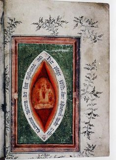 Side Wound of Christ page from a Book of Hours. England and the Netherlands. 1410.