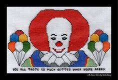 Pennywise the Dancing Clown Cross Stitch by OhSewNerdy on Etsy