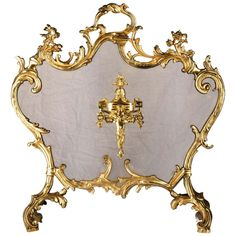 Fireplace Tools, Rococo Style, Louis Xvi, Urn, Brass, Antiques, 19th Century, French, Decoration
