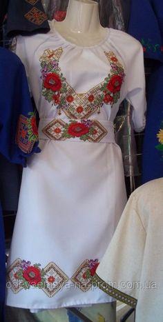 Купить дешево Красивое вышитое платье р.38-56  продажа 5d258a8a8a977