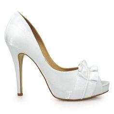 8dd6976e4 Sapato Peep Toe Noiva Feminino Laura Porto