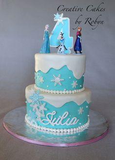 Frozen Themed Birthday Cake... Love!