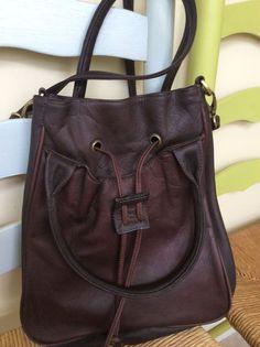 Purses And Handbags - Boulder Ridge Brown Leather Hobo Bag #BoulderRidge #ShoulderBag  -  cool, ebay.     lj