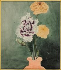 Untitled (Roses with Chrysanthemum in Vase, JH 63; Wild Flower on Verso) JOHN HANCOCK (ENGLISH, b. 1757–UNKNOWN) C. 1825
