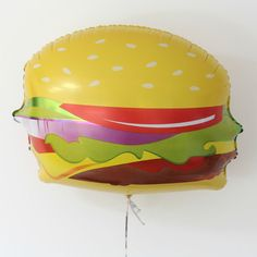 Hamburger Large Foil Balloon 71 cm Wide Birthday Party Event Decoration