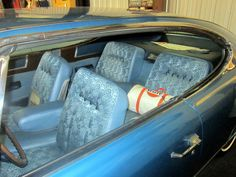 AMC Marlin interior with four bucket seats