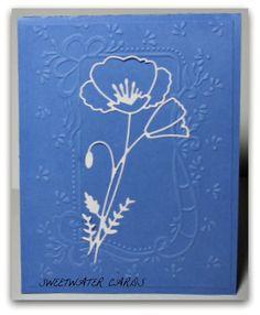 1202-1117- Perky Poppy from Memory Box and Cuttlebug folder