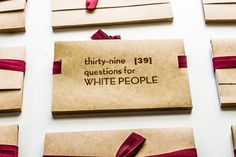 """""""Thirty-Nine Questions for White People"""" artist Naima Lowe: """"Who gets to be white hasn't always been the same"""""""