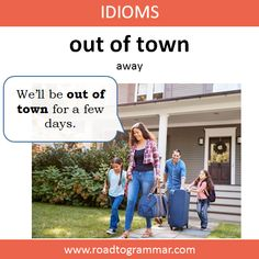 Idioms: Out of Town Practice English Grammar, English Grammar Book, Advanced English Vocabulary, English Vocabulary Words, Learn English Words, English Writing Skills, Slang English, English Vinglish, English Idioms