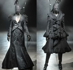 alice auaa by Yasutaka Funakoshi 2014-2015 Fall Autumn Winter Womens Runway Looks - Mercedes-Benz Fashion Week Tokyo Japan Catwalk Fashion Show - S&M Leather Jacket Coat Boots Tassels Waistband Belt Blazerdress Studs Metallic Mask Whip Zippers Coatdress Straps Gloves Spikes Skirt Frock Dress Ruffles Asymmetrical One Shoulder Tutu Net Tulle Sheer Chiffon Peek-a-Boo Mesh Funnelneck Furry Bra Bralette Hoodie