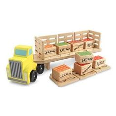 toy fruit delivery truck