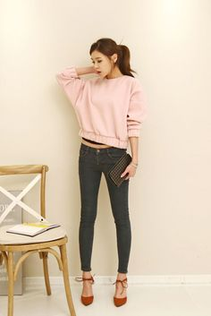 Band Trim Puff Sweater