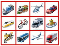 Benefits of transport, choose one and tell me the why? Montessori Math, Montessori Materials, Spanish Class, Teaching Spanish, Abc Education, English Games, Transportation Theme, File Folder Games, Thinking Skills
