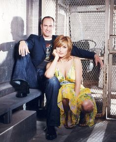 Law & Order SVU Eliott & Olivia AKA Chris Meloni & Mariska Hargitay. Love their relationship.