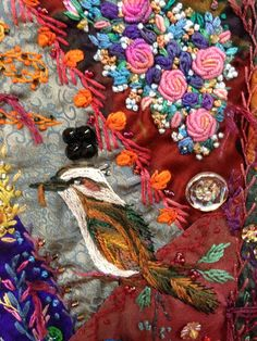 Kookaburra on Robyn Ginn Crazy quilt