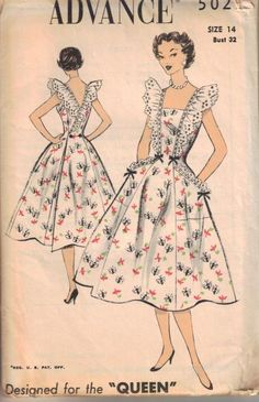 Vintage clothing is making a big comeback everywhere and people are raving about how old can be so in and new. What is it about vintage clothing that people. Vintage Sewing Patterns, Clothing Patterns, Dress Patterns, Vintage Dresses, Vintage Outfits, 1950s Dresses, Vintage Clothing, Wrap Clothing, 1950s Fashion