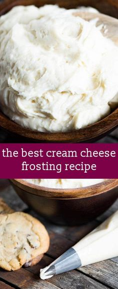 The best cream cheese frosting recipe for your cakes, cupcakes and cookies. Hints for making frosting with the best flavor and texture. homemade frosting recipe / easy frosting recipe / cream cheese