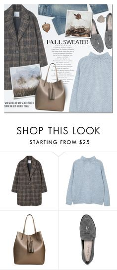 """Cozy Fall Sweater"" by anna-anica ❤ liked on Polyvore featuring MANGO, Populaire, Via Spiga and Mossimo"