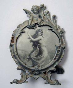 Cupid Roses Cast Iron Frame Easel Back