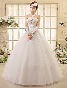 Ball Gown Sweetheart Floor-length Lace Wedding Dress – USD $ 49.99