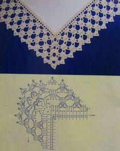 Breathtaking Crochet So You Can Comprehend Patterns Ideas. Stupefying Crochet So You Can Comprehend Patterns Ideas. Crochet Boarders, Crochet Edging Patterns, Crochet Lace Edging, Crochet Motifs, Crochet Diagram, Crochet Chart, Lace Patterns, Crochet Designs, Crochet Doilies