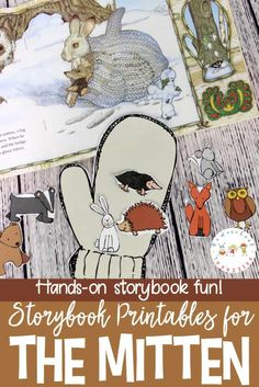 Do your kids love Jan Brett books? If so, they're going to love this The Mitten story printable and hands-on activity! Perfect for winter homeschool lessons! Jan Brett, Preschool Lessons, Preschool Printables, Preschool Themes, Kindergarten Themes, Printable Crafts, Literacy Activities, Preschool Literacy, Preschool Art