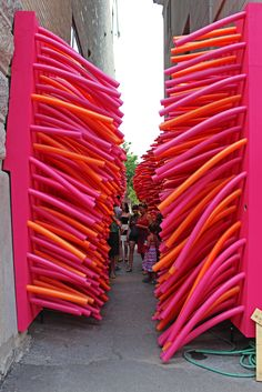 The Unusual Passages - Outdoor Art in Quebec City | Justin Plus Lauren Read more: http://justinpluslauren.com/unusual-passages-outdoor-art-in-quebec-city/