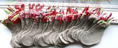 Christmas stocking advent calendar handsewn