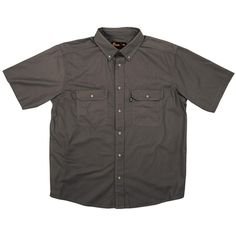 c50ce8d702f Berne Men s XX-Large Tall Slate (Grey) Cotton and Polyester Short Sleeve  Ripstop Work Shirt