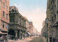 High Street, Exeter, England. C19th Postcard.