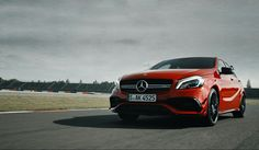 The Mercedes-AMG A 45 4MATIC on the race track.