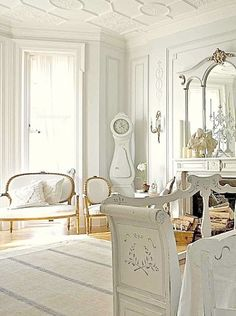 Gustavian Design - New kitchen this sort of mood with some BW pattern & modernism chucked in too
