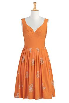 Butterfly poplin dress // much needed for Giants games. And like every other occasion of my life.
