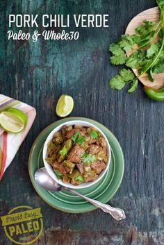 Pork Chile Verde by Stupid Easy Paleo. #paleo