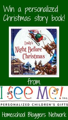 """Enter to WIN a personalized Christmas book for your child from I See Me! Your child can have their very own """"Night Before Christmas"""" story this year!! ENDS December 17, 2014 :: www.inallyoudo.net"""