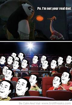 Pretty much everyone's reaction to this part of the movie- But, a very good movie. :)