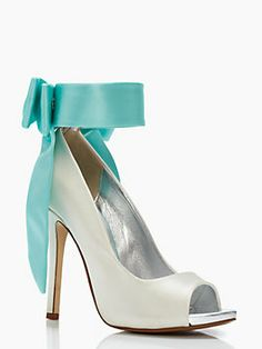 If I were getting married today I would tuck these beauties under my gown.  Something new & blue!