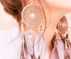 dream catcher earrings!! These are my favorite i must find a pair like them!