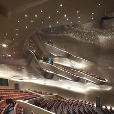 The Guangzhou Opera House by Zaha Hadid Architects has opened in Guangdong province, China.