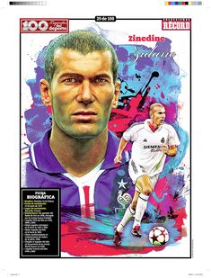 """100 Illustrations of """"Sports Legends"""", are published weekly since May 2011 Football Players Images, Best Football Players, Football Fans, Soccer Players, Fifa Football, World Football, Zinedine Zidane, Marcelo Real, Witcher Wallpaper"""