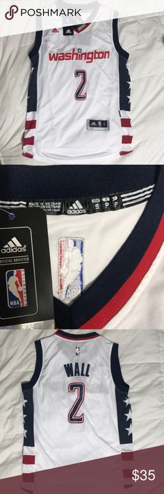 Washington Wizards John Wall Jersey Brand New Jersey that has not been worn! It's a small but fits like a medium adidas Other
