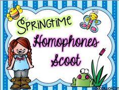Spring Homophones Task Cards  (2 formats) Reading Street Unit 5  TpT$