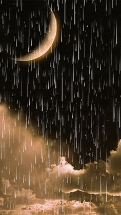 Rain under the moon Good Night Gif, Good Night Image, Moon Pictures, Nature Pictures, Vogel Gif, Beau Gif, Rain Gif, Foto Gif, I Love Rain