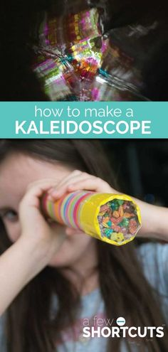 A box of Fruity Pebbles and some recycled supplies from around the house is all you need to make a Kaleidoscope with your kids! Fun Summer Craft!