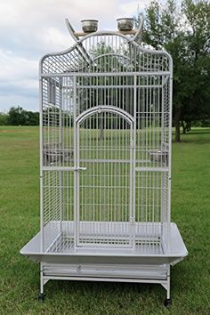 Bird Parrot Cage Macaw Cockatoo African Grey White Vein >>> Want additional info? Click on the image.